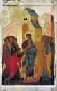 Дионисий :: Уверение Фомы. Дионисий и мастерская. Икона из церкви Св. Троицы Павлова Обнорского монастыря. 1500
