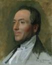 1844. Портрет Эдмонда Каве (1794-1852) (40.6 х 32.7 см) (Нью-Йорк, Метрополитен)