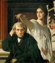 1842.  Композитор Керубини и муза лирической поэзии (105 х 94 см) (Париж, Лувр)