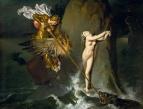 1819, Роже, освобождающий Анжелику (147 х 190 см) (Париж, Лувр)