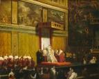 1814 Папа Пий VII в Сикстинской Капелле (74.5 х 92.7 и 98 х 117 см) (Вашингтон, Нац. галерея)