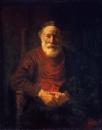 Портрет старика в красном