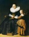 Портрет Сусанны Пелликорн с дочерью Евой