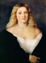 Портрет молодой женщины в чёрном платье