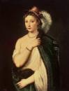 Портрет молодой женщины в шляпе с пером