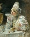 За чаем. 1914