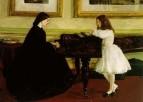 У рояля, 1858-1859.Музей Тафт, Цинциннати, Огайо, США