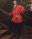 В.В.Стасов на даче в деревне Старожиловка близ Парголова. 1889