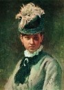 Портрет В.А.Репиной, жены художника. 1876