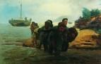Бурлаки, идущие вброд. 1872