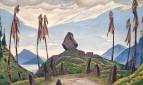 Эскиз декорации к балету И.Ф.Стравинского «Весна священная»