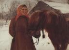 Баба с лошадью. 1898