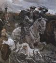 Выезд императора Петра II и цесаревны Елизаветы Петровны на охоту. 1900