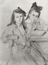 Девочки Н.А. и Т.А.Касьяновы. 1907