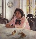 Девочка с персиками (Портрет В.С.Мамонтовой). 1887