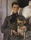 Портрет графа Ф.Ф.Сумарокова-Эльстон, впоследствии князя Юсупова, с собакой. 1903