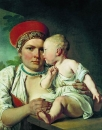 Кормилица с ребенком. Начало 1830-х