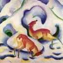 Косули в снегу