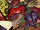 Красный и синий конь
