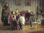 Разлука. 1872 Холст, масло. 59x77 ГТГ