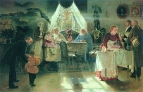 Бабушкин праздник. 1893 Холст, масло.