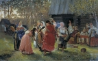 Девичник. 1889 Холст, масло. 93x153 ГРМ