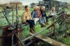 «Воробьи, ребята на изгороди» 1883 г.