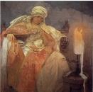 Женщина с горящей свечой 1933