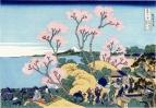 Вид на Фудзи с горы Готэнъяма у реки Синагава