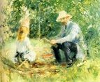 1883 Eugene Manet and his daughter with the Garden