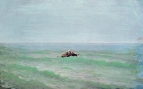 Лодка в море. Крым. До 1875