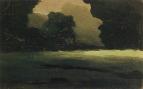 Поляна в лесу. Туман. 1898-1908