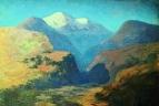 Снежные вершины гор. Кавказ. 1890-1895