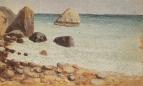 Скалистый морской берег. Крым
