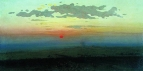 Закат в степи. 1900