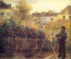 Клод Моне, пишущий картину в своем саду в Аржантёе