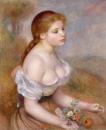 Молодая девушка с ромашками
