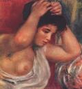 Молодая женщина, делающая прическу