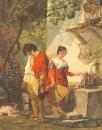 Прерванное свидание. Копия с рисунка К.П. Брюллова