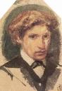 Автопортрет. 1882. Бумага, акварель. ГРМ