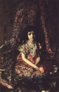 Девочка на фоне персидского ковра. 1886.