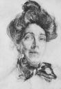 Портрет Н.И.Забелы-Врубель. 1905. Бумага, графитный карандаш. ГРМ