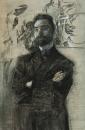 Портрет поэта Валерия Яковлевича Брюсова. 1906.