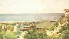 Одесский порт (Берег моря). 1885. Бумага, акварель