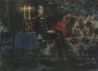 Портрет военного (Печорин на диване).