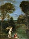 Пейзаж с Тобиасом ловящим рыбу
