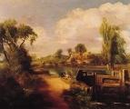 Пейзаж с мальчиками рыбаками