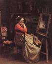 Молодая женщина с мандолиной
