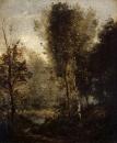 Пруд в лесной чаще