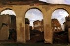 Вид Колизея сквозь аркаду базилики Константина